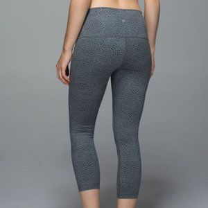 Lululemon Wunder Under Crop RollDown Dottie Dash 4
